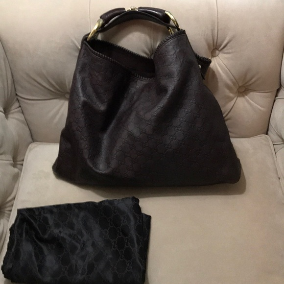 Gucci Bags   Authentic Leather Oversized Hobo   Poshmark 79f096434c